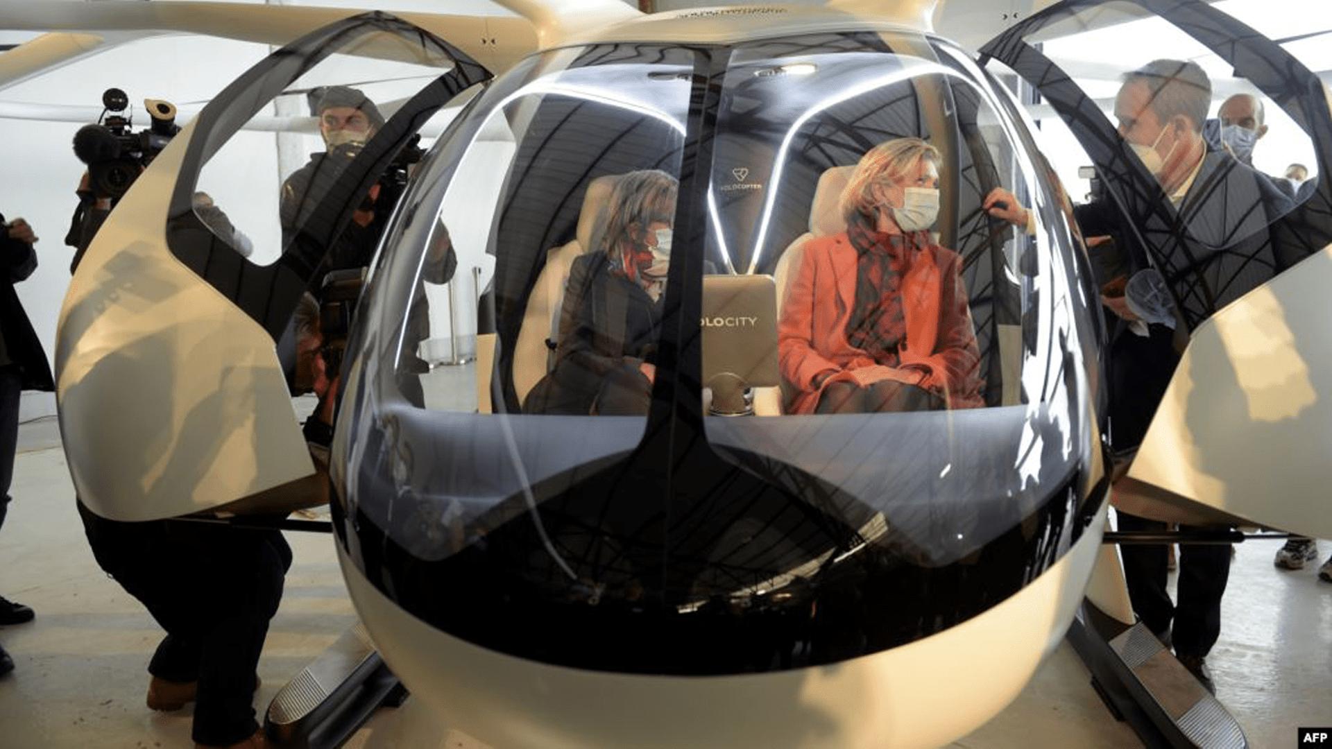 Немецкое летающее такси представили в Париже
