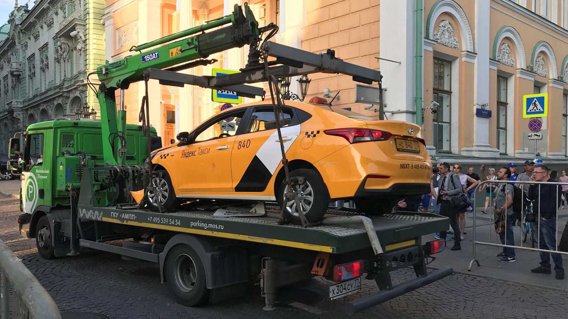 93 машины такси отправили на штрафстоянку в Подмосковье